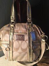 Coach gold poppy sateen F0969-13843 shoulder bag