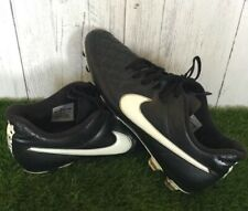 Nike Tiempo Legend FG Football Boots Black Leather Moulded Studs UK Size 10