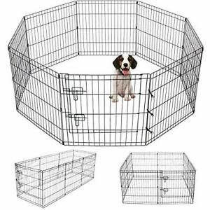 Artmeer Pet Playpen Puppy Playpen Kennels Dog Fence Exercise Pen Gate Fence F...
