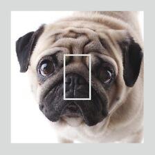 Novelty Cute PUG Dog Sad Eyes Pet Light Switch Vinyl Sticker Cover Skin Decal