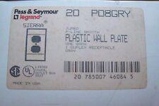 PO8Gry Pass and Seymour Plastic Jumbo wall Plate 1GangDuplex( Box 20pcs)