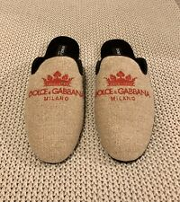 Men's New Dolce & Gabbana Slippers / Slides Slip  Size 10 (eu 44) RRP £450.00
