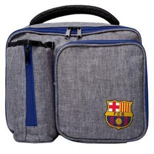 F.C Barcelona - Premium Lunch Box Bag & Zipped Bottle Holder - Official