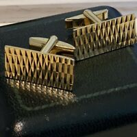 Vintage 1950s - 1960s Gold Plated Commodore Rectangular Cufflinks