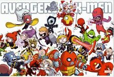 AVENGERS VS X-MEN ~ SKOTTIE YOUNG ~ 24x36 COMIC ART POSTER ~ NEW/ROLLED!