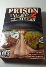 """""""Prison Tycoon 2 Maximum Security""""  PC/Small Box/Complete Ships in a Sturdy Box!"""