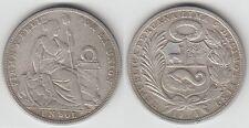 Gertbrolen Pérou 1 Sol en   Argent 1924  Silver Coin