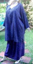 black purple blouse butterfly skirt 2-PCS-SET-M L 1X 2X zm553