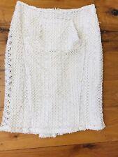 Anthropologie Eva Franco Skirt Size 4 US  8 Aus Ivory Crochet