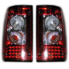 1 PAIR Red Clear LED Tail Light Lamp Rear For Toyota Hilux Pickup MK3 1989-1997