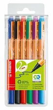STABILO 'Recycled' GREENpoint Felt-Tip Sign Pen - Assorted Colours, Wallet of 6