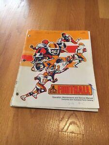 Football Video Arcade Game Operations, Maintenance & Service Manual, Atari 1978