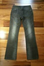 London Jean Womens Boot Cut Jeans Distressed Stretch Low Rise Size 2 Black
