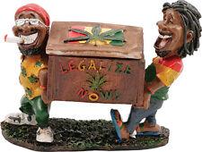 Two Rasta Jamaican Men Legalize Now Treasure Box with Cover Cigarette Ashtray