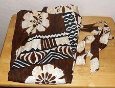 Tapa Designs Hawaii 100% Cotton Coconut Cloth Wrap Around Skirt One Size Sarong