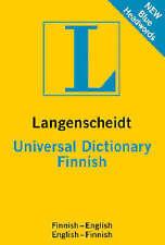 Finnish Langenscheidt Universal Dictionary, Very Good Condition Book, Langensche
