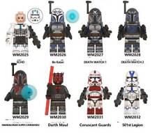 8Pcs Minifigures Star War clone trooper Darth Maul 501st Legion blocks fit lego
