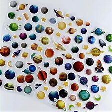 Amazing Space Planets Stars UFO Rockets 3D Puffy Stickers Kids Reward Party Bag