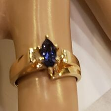 Estate 10K Yellow Gold Natural Lilac Purple Tanzanite Ring size 5 1/2