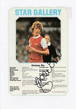 GRAHAM RIX ARSENAL 1976-1988 ORIGINAL HAND SIGNED ANNUAL PICTURE CUTTING