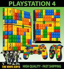 PS4 Piel juguete Ladrillos Bloques de construcción NUEVO Pegatina + MANDO Pie