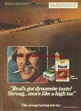 "Real Cigarette ""Dynamite Taste!"" 1979 Magazine Advert #2876"