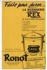 Buvard publicitaire Buanderie Rex Ronot Saint Dizier lessiveuse