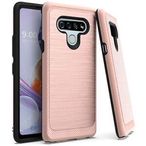 For LG Stylo 6 LM-Q730 Lining Hybrid Case Phone Cover