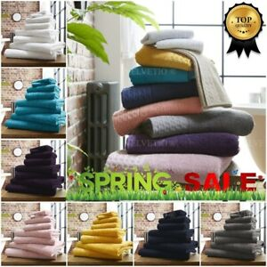 Luxury Egyptian Cotton Towel Waffle Design Hand Bath Sheet Towels 600 GSM 2 Pack