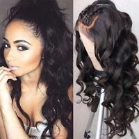 100% Brazilian Virgin Human Hair Wig 360 Lace Front Full Wigs Loose Body Wavy hd