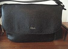 RALPH LAUREN black textured leather purse