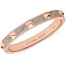 MICHAEL KORS MKJ3824 PYRAMID Rose Gold Tone Crystals Pave Bracelet MKJ3824791