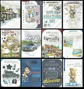 QUALITY LARGE FATHER'S DAY CARD ~ CHOICE OF TITLES, DESIGNS ~  FATHERS DAY