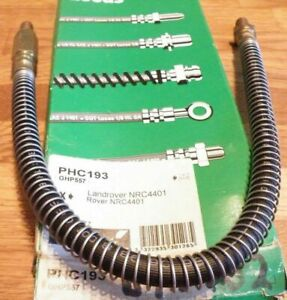 PHC193 BH162 New Front Brake Hose Land Rover Discovery 2.5 Range Rover 3.5 3.9