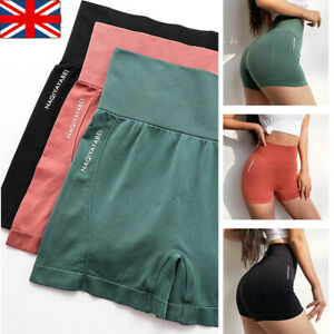 Womens Seamless Gym Fitness Leggings Running Sports High Waist Shorts Yoga Pants