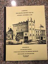 Guidebook Philadelphia Brewery Tour VIII 1995 Beer History Atwater Kent Museum