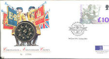 1993 coin cover; Coronation Anniversary, Royal Mint £5, Royal Mail pnc; free pp