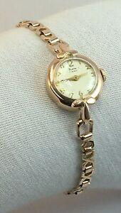 """Antique Vintage Original Soviet 14K 583 Rose Gold Mechanical Watch """"Slava"""" USSR"""