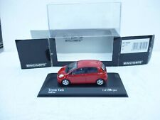 TOYOTA YARIS VITZ ECHO  IN CHILI RED  1:43 Minichamps  NM BOXED!