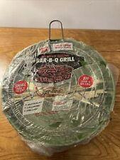 Vintage Marshallan Green Metal Portable Bar B Q Grill Bbq Sealed Original
