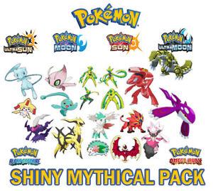 Pokemon ULTRA SUN & MOON - ALL Gen 7 Shiny Mythical Pokémon 6IVs Level 100 3DS