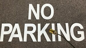 PREFORMED THERMOPLASTIC ROAD & CARPARK MARKING PAINT (NO PARKING,DISABLED) 300mm