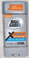 Right Guard ANTIPERSPIRANT DEODORANT Xtreme Defense 5 Arctic Gel 4 oz/113g New