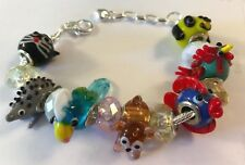 ❤️European CHARM BEADS ANIMALS BRACELET ~ MURANO GLASS BEAD LAMPWORK ANIMALS❤️