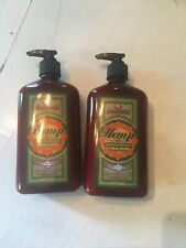 Malibu Tan LOT Of 2 Hemp Moisturizer Body Lotion  18 fl. oz. Each NEW