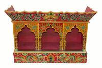 Tempio Altare Tibetano bouddhiste-3 Incavi Statue Bodhisattva 81x57cm 25980 HG17