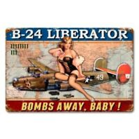 Consolidated B-24 Liberator Pinup Girl Metal Aviation Sign, WWII   SIG-0302-Y