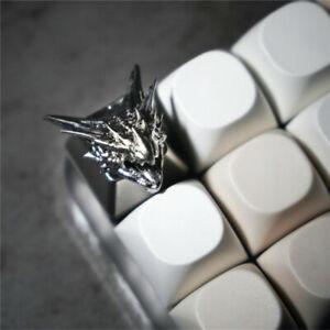 Silver Rathalos Artisan Resin Keycap - For Cherry MX Keyboard Esc Custom Made