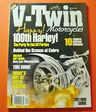 V-TWIN MOTORCYCLE MAGAZINE DEC/2003...HAPPY 100th HARLEY: THE PARTY TO END ALL