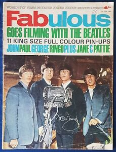SIGNED Patti Boyd FAB go filming with The Beatles magazine 1964 Hard Days Night